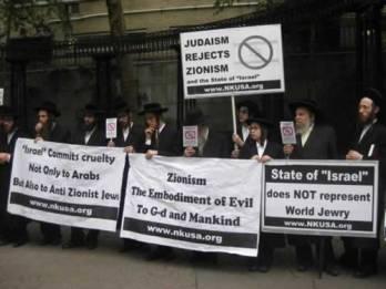 Orthodox Jews protesting Zionism.