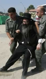 Violence commited against peaceful Orthodox Jews by the Israeli Defence Force